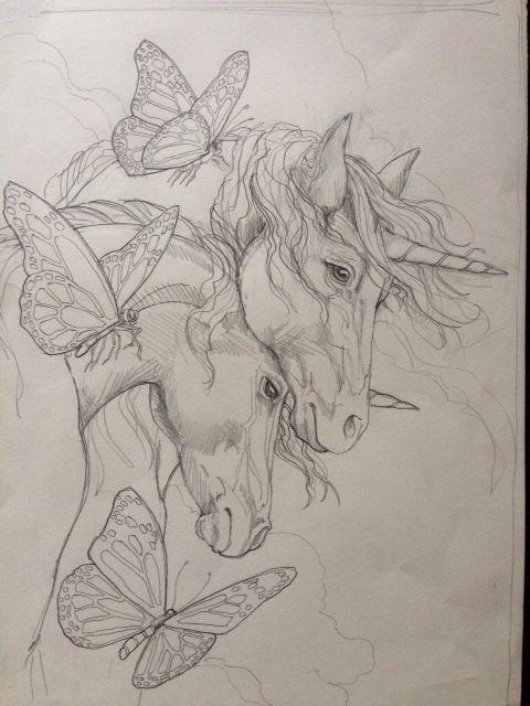 Malvorlagen Einhorn Inspirierend Jody Bergsma Unicorn Painting Pencil Base U3dh Bild