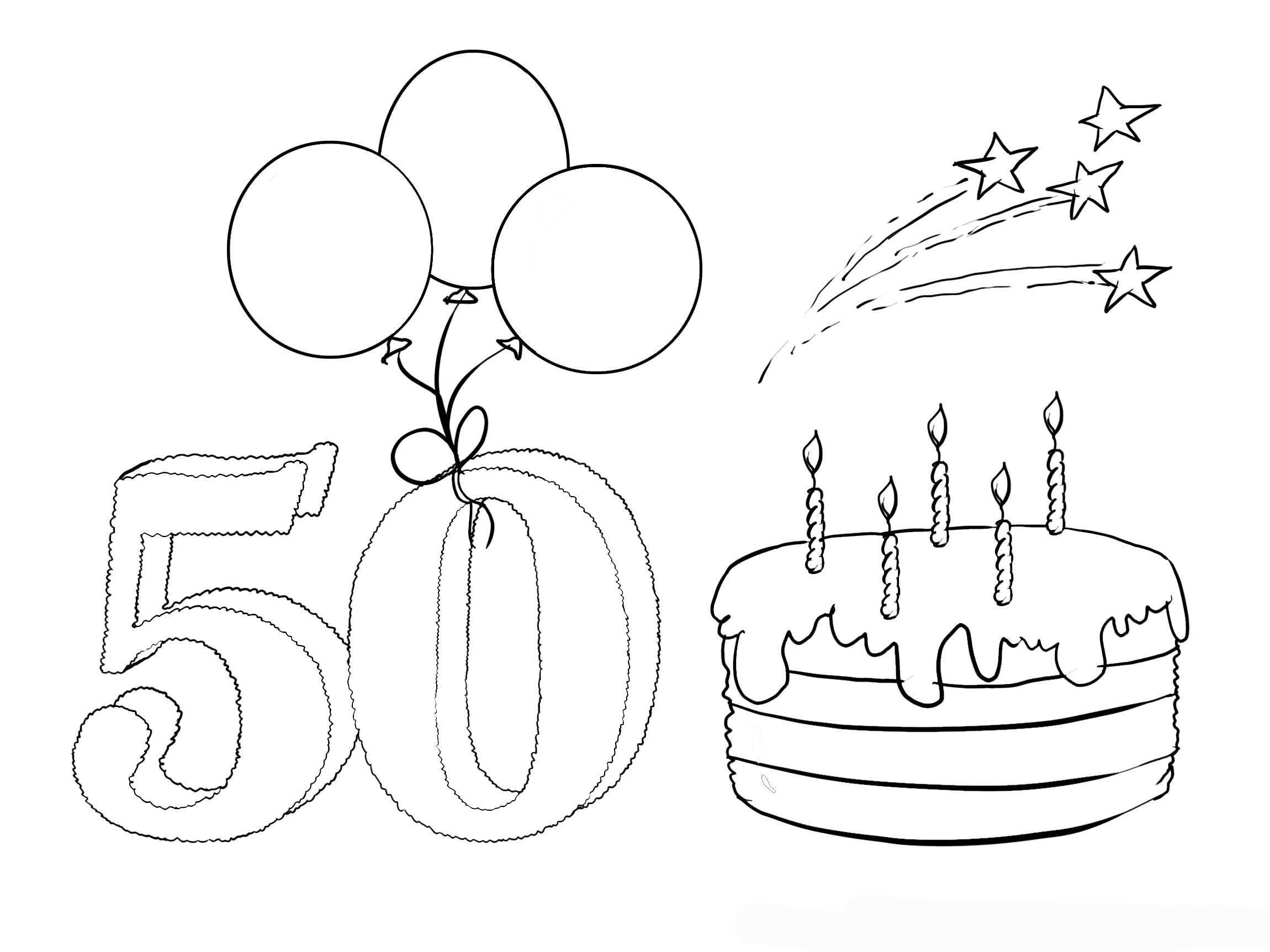 Malvorlagen Geburtstag Einzigartig Ausmalbild Zum 50 Geburtstag Y7du Galerie