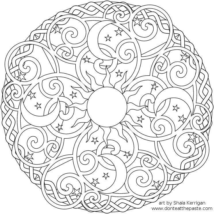 Malvorlagen Mandala Neu Detailed Coloring Pages for Adults Gdd0 Bild
