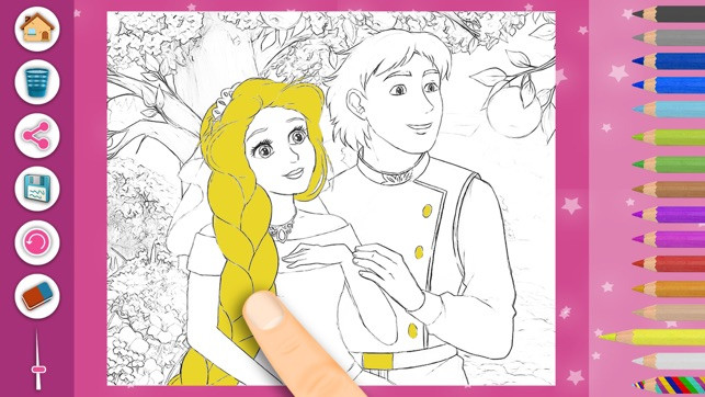 Malvorlagen Rapunzel Einzigartig Prinzessin Rapunzel Magic Kids Färbung Seiten Im App Store U3dh Fotografieren
