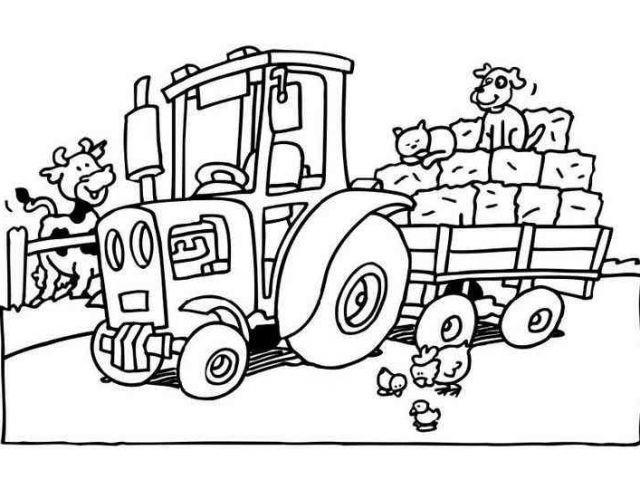 Ausmalbilder Traktor attachmentg title